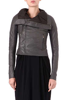 RICK OWENS Hamm classic leather biker jacket