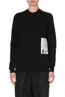 RICK OWENS Masters torch patch sweatshirt