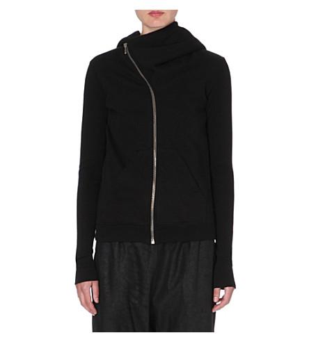 RICK OWENS Masters zip front hoody (Black