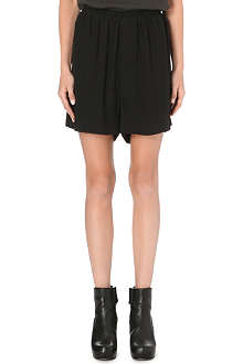 RICK OWENS Cotton and silk-blend shorts