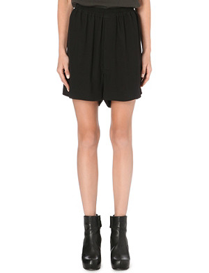 RICK OWENS Cotton and silk-blend shorts