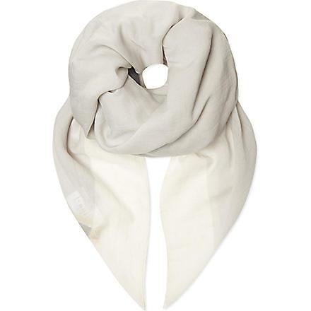 RICK OWENS Torch print scarf (Black/white