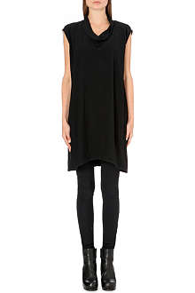 RICK OWENS Cowl-neck draped tunic