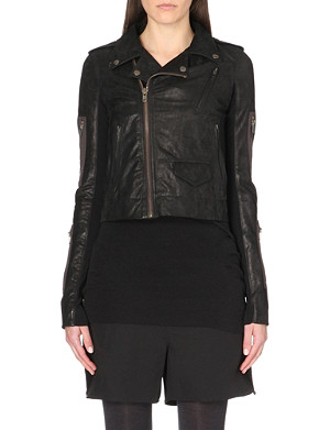 RICK OWENS Stooges leather biker jacket