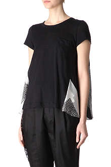 SACAI Contrast back top