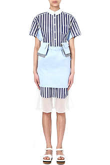 SACAI Cotton and silk dress