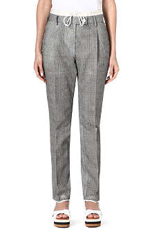 SACAI Check pleat trousers