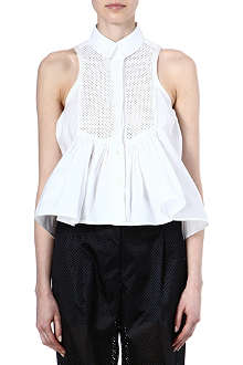 SACAI Cut-out pleated top