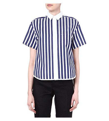 SACAI Striped shirt (Stripe/ white