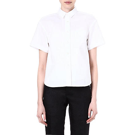 SACAI Striped shirt (White/ white
