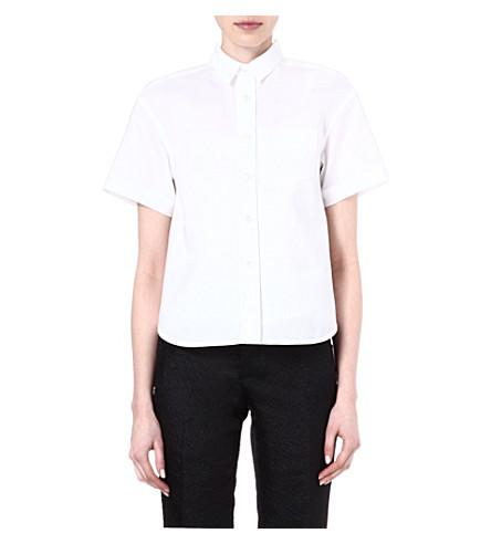 SACAI Striped shirt (White/ white