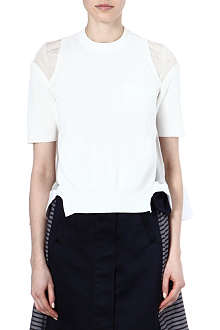 SACAI Gathered-back top