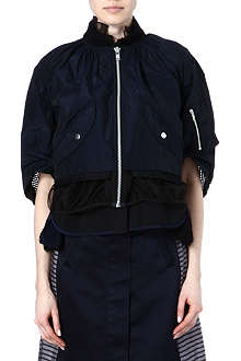 SACAI Mesh-detailed jacket