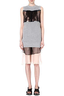 SACAI Bib-front knitted dress