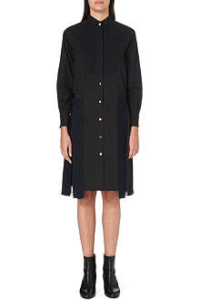 SACAI Pleated-skirt shirt dress
