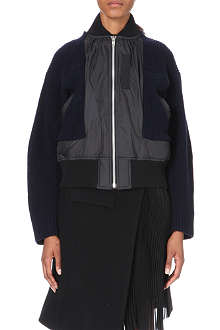 SACAI Wool bomber jacket