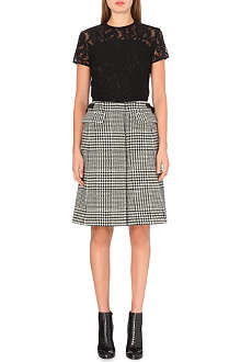 SACAI Lace and houndstooth dress