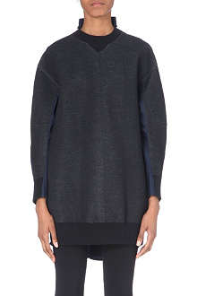 SACAI Shirt-detail sweatshirt