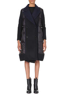 SACAI Quilted wool coat