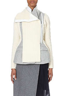 SACAI Structured wool jacket