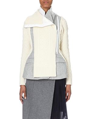 SACAI Structured wool jacket