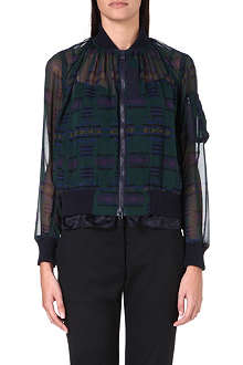 SACAI Sheer zip-up jacket