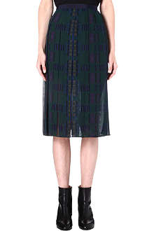 SACAI Sheer pleated skirt