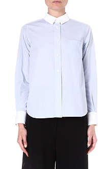 SACAI Contrast silk and cotton-blend shirt