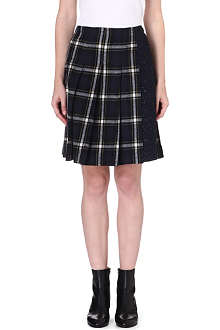 SACAI Pleated cotton skirt