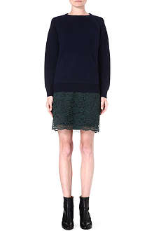 SACAI Lace-skirt dress