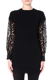 SACAI Lace-sleeve jumper
