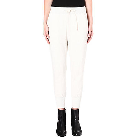 SACAI Cuffed jersey jogging bottoms (Ecru