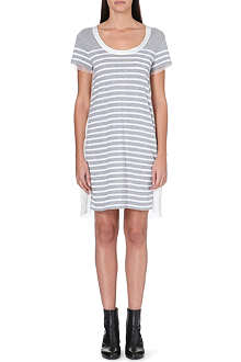 SACAI Contrast-back striped dress