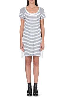 SACAI Contrast-back striped dress
