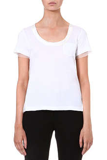 SACAI Sheer-back cotton t-shirt