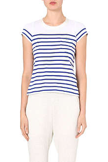 SACAI Striped contrast-back t-shirt