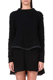 SACAI Textured wool jumper