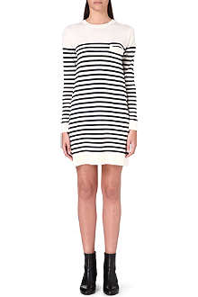 SACAI Striped wool dress