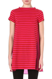 SACAI Striped contrast-back dress
