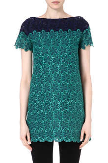 SACAI Floral lace top