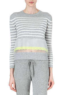 SACAI Striped sheer panel jumper