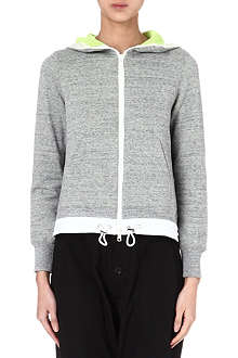 SACAI Jersey zip-up hoody