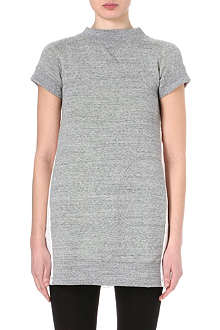 SACAI Broderie Anglaise-back sweatshirt dress