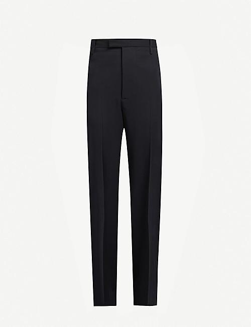 BOTTEGA VENETA Wide-leg high-rise wool trousers