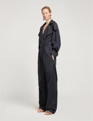 Compact cotton jumpsuit