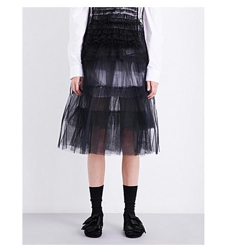 SIMONE ROCHA Layered tulle midi skirt (Black