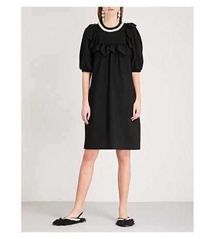 SIMONE ROCHA Faux pearl-detail jersey dress (Black/pearl