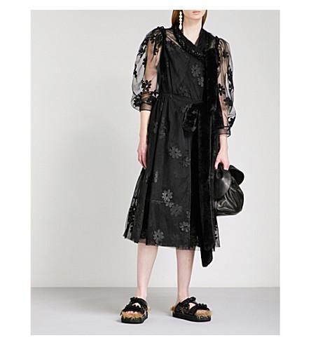 SIMONE ROCHA Teddy bow-tie tulle dress (Black/black