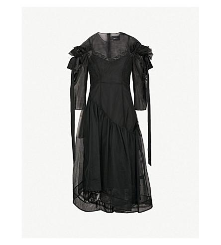 SIMONE ROCHA Ruffled tulle dress (Black/black