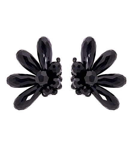 SIMONE ROCHA Beaded cluster earrings (Jet